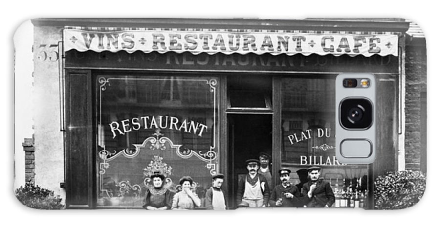 1900 Galaxy S8 Case featuring the photograph Paris: Restaurant, C1900 by Granger