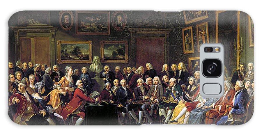 1755 Galaxy S8 Case featuring the photograph Paris: Salon, 1755 by Granger
