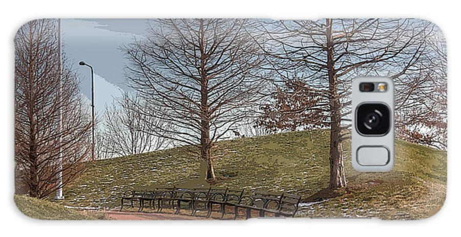 Park Bench Galaxy S8 Case featuring the photograph Park Bench by David Bearden