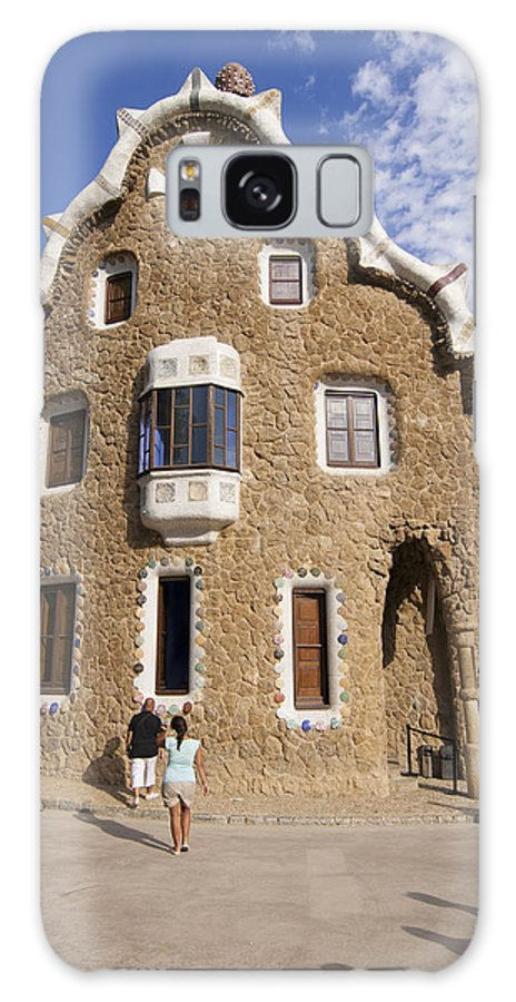 Park Guell Galaxy S8 Case featuring the photograph Park Guell Barcelona Antoni Gaudi by Matthias Hauser
