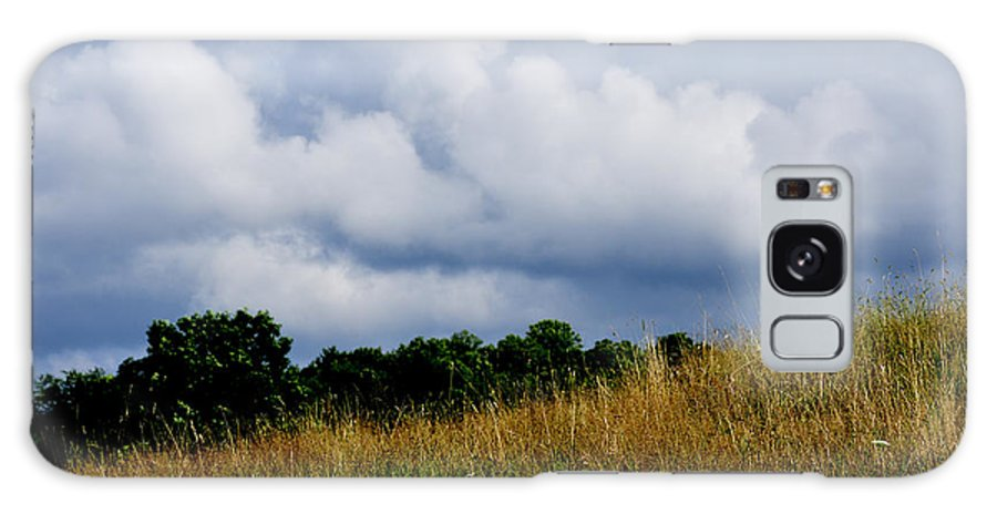 Pasture Field Galaxy S8 Case featuring the photograph Pasture Field And Stormy Sky by Thomas R Fletcher