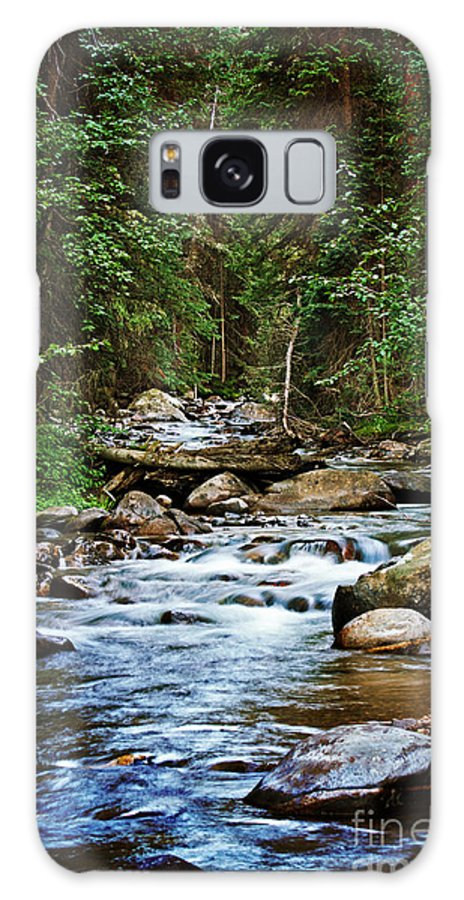 Mountain Stream Galaxy S8 Case featuring the photograph Peaceful Mountain River by Lisa Porier
