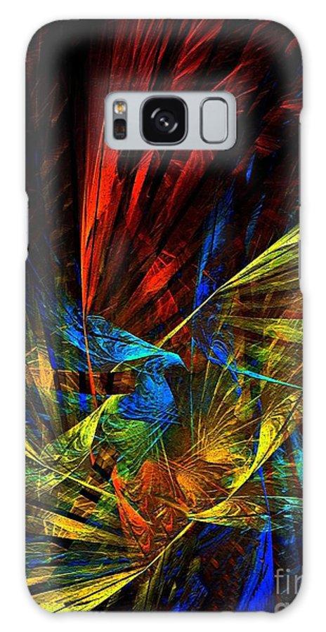 Peacock Galaxy S8 Case featuring the digital art Peacock by Klara Acel
