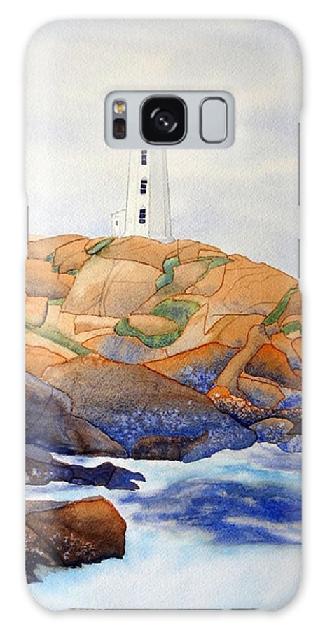 Peggy's Cove Galaxy S8 Case featuring the painting Peggy's Cove by Laurel Best