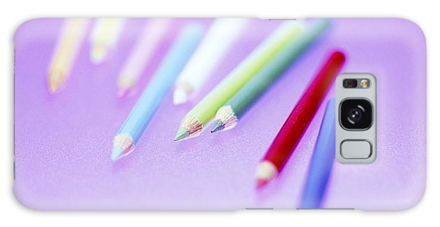 Crayon Galaxy S8 Case featuring the photograph Pencil Crayons by Lawrence Lawry