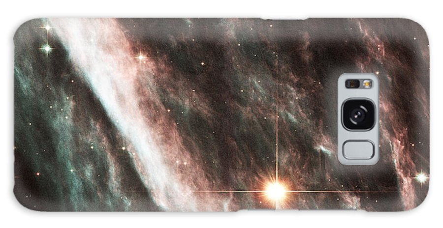 Astronomy Galaxy S8 Case featuring the photograph Pencil Nebula Supernova Remnant by Nasaesastscihubble Heritage Team