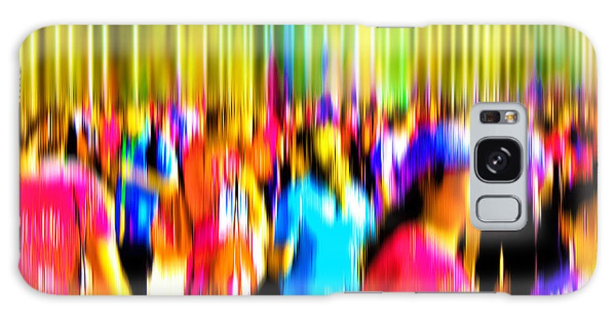 Abstract Galaxy S8 Case featuring the digital art People Walking In The City-4 by Joel Vieira