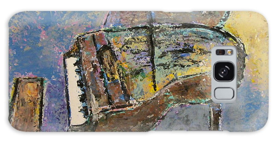 Impressionist Galaxy S8 Case featuring the painting Piano Study 3 by Anita Burgermeister