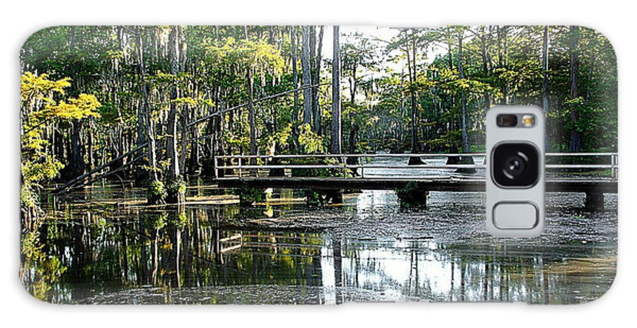 Pier Galaxy S8 Case featuring the photograph Pier In The Swamp by Ester Rogers