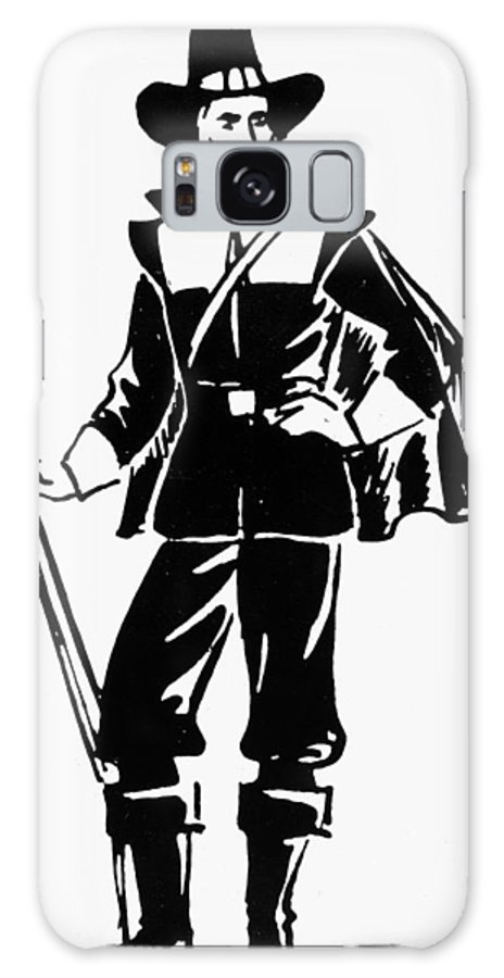 17th Century Galaxy S8 Case featuring the photograph Pilgrim, 17th Century by Granger
