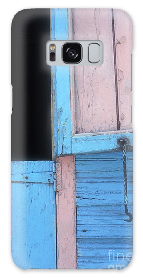 Dominican Republic Galaxy S8 Case featuring the photograph Pink And Blue Shutters Barahona Dominican Republic by John Mitchell