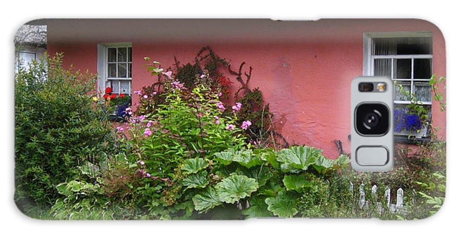 Ireland Galaxy S8 Case featuring the photograph Pink Irish Cottage by Bonnie Myszka