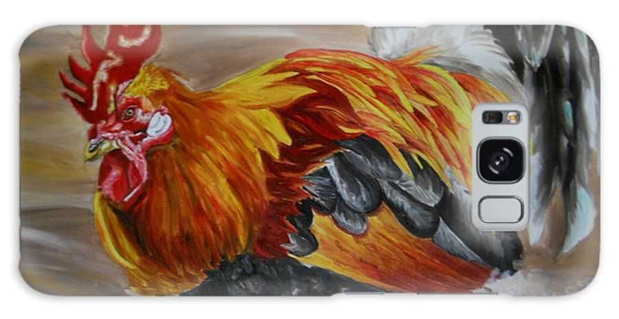 Rooster Galaxy S8 Case featuring the painting Pinto by Yenni Harrison
