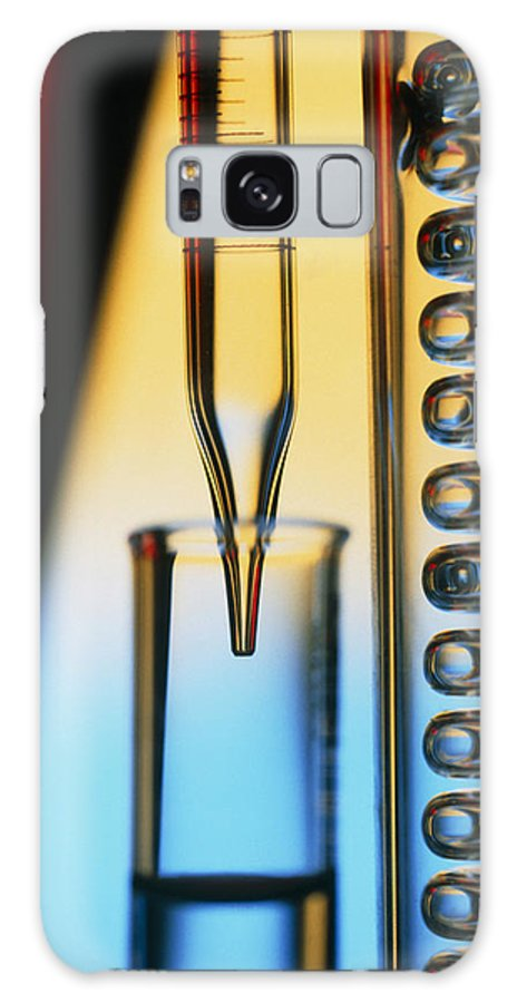 Pipette Galaxy S8 Case featuring the photograph Pipette, Test Tube And Condenser Coil by Tek Image