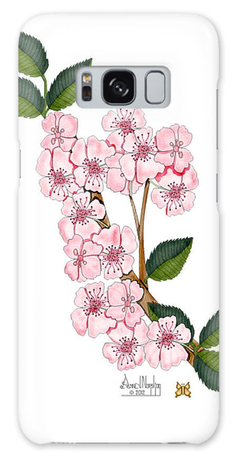 Anne Norskog Galaxy S8 Case featuring the painting Plum Beautiful by Anne Norskog