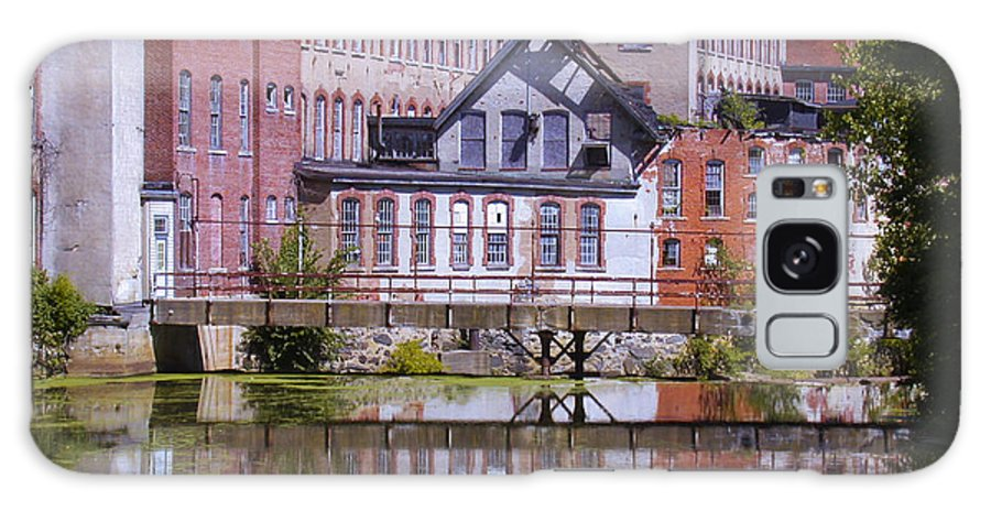 Warwick Galaxy S8 Case featuring the photograph Pontiac Mills Dam by Tim Mulina