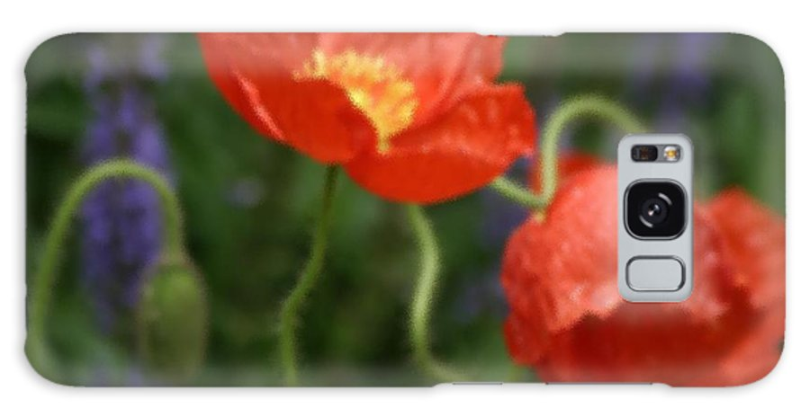 Floral Galaxy S8 Case featuring the photograph Poppies With Impressionist Effect by Living Color Photography Lorraine Lynch