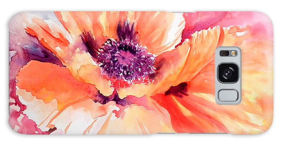 Red Poppy Galaxy S8 Case featuring the painting Poppy Fiesta by Ruth Harris