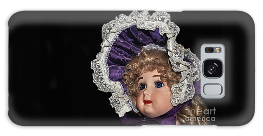 Photography Galaxy S8 Case featuring the photograph Porcelain Doll - Head And Bonnet by Kaye Menner