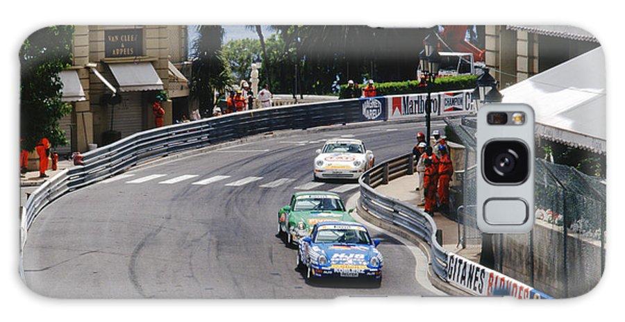 1994 Monaco Grand Prix Galaxy S8 Case featuring the photograph Porsches At Monte Carlo Casino Square by John Bowers