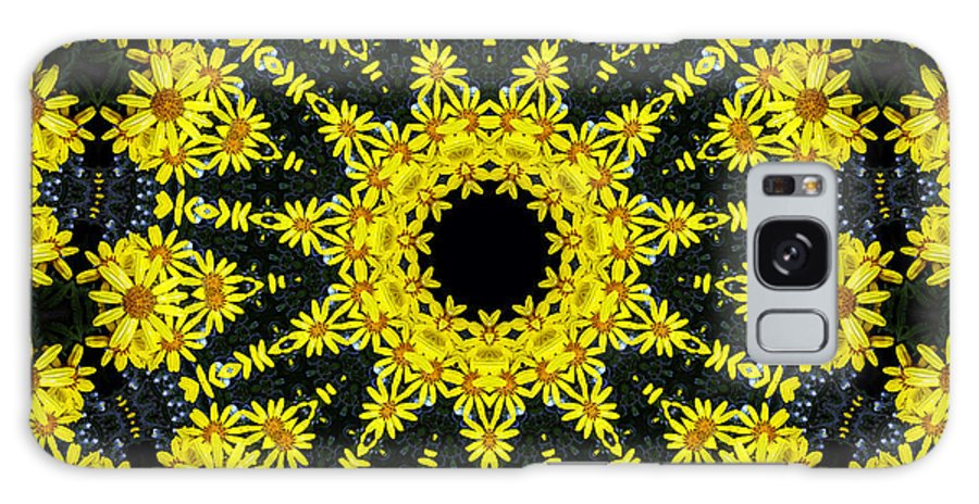 Yellow Floral Mandala Galaxy S8 Case featuring the digital art Portal To The Unknown by Baato