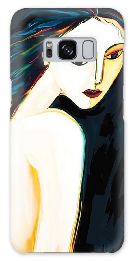 Figurative Galaxy S8 Case featuring the digital art Posing Nude 1 by Rabi Khan