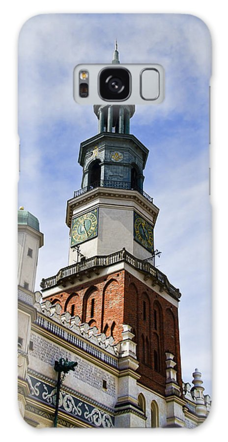 Posnan Galaxy S8 Case featuring the photograph Posnan Poland Clock Tower by Jon Berghoff