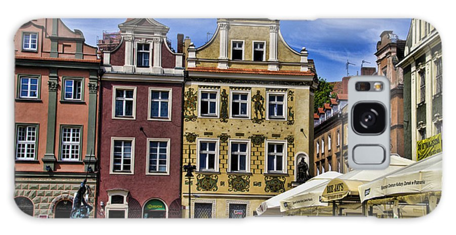 Posnan Galaxy S8 Case featuring the photograph Posnan Shops - Poland by Jon Berghoff