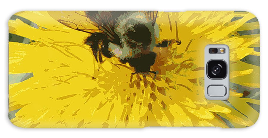 Galaxy S8 Case featuring the photograph Posterized Bumble Bee by Mark J Seefeldt