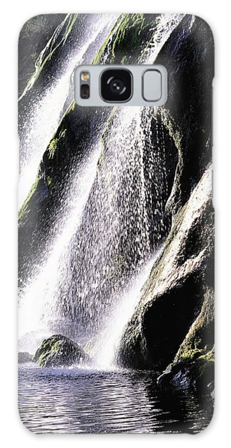 Cascading Galaxy S8 Case featuring the photograph Powerscourt Waterfall, Co Wicklow by The Irish Image Collection