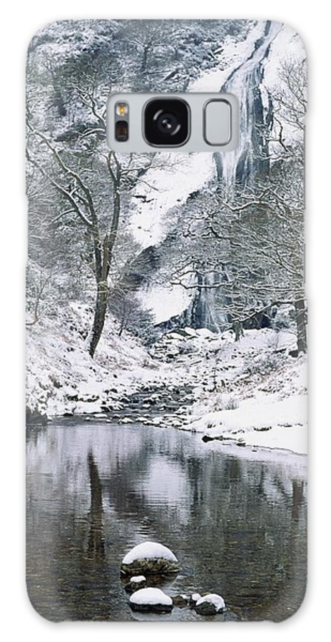 Snow Galaxy S8 Case featuring the photograph Powerscourt Waterfall In Winter, County by The Irish Image Collection