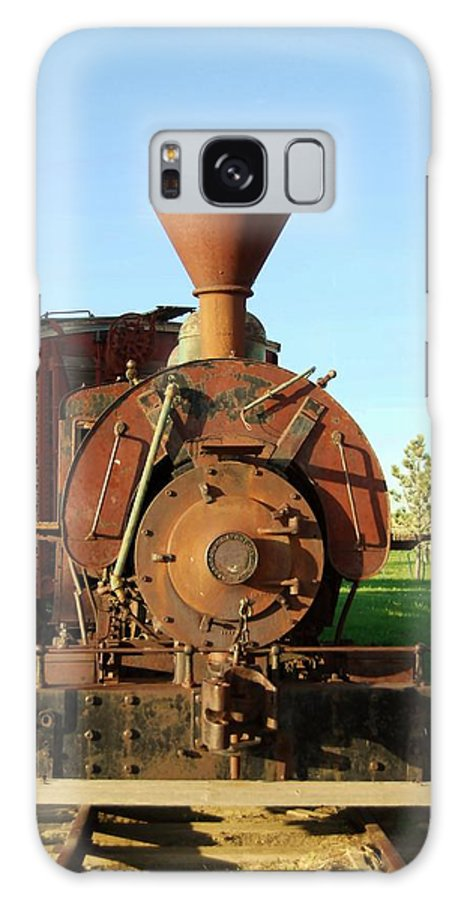 Train Galaxy S8 Case featuring the photograph Prairie Train by Judy Hall-Folde