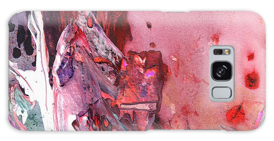 Abstracts Galaxy S8 Case featuring the painting Preaching The Bible by Miki De Goodaboom