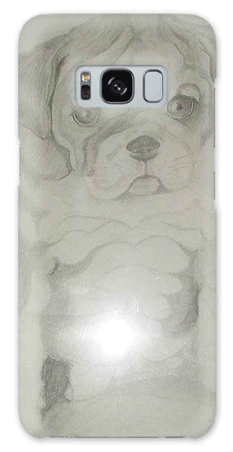 Puppy Galaxy S8 Case featuring the drawing Puppy by Patricia Milla