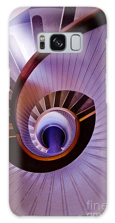 Spiral Galaxy S8 Case featuring the photograph Purple Spiral by Athena Lin