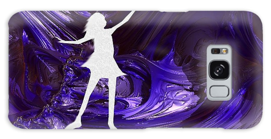 Digital Galaxy S8 Case featuring the digital art Purple Taffy by Vicki Lynn Sodora