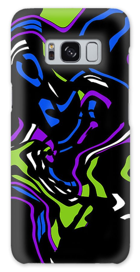 Color Colorful Abstract Expressionism Put Together Modern Art Galaxy S8 Case featuring the digital art Put It Together by Steve K