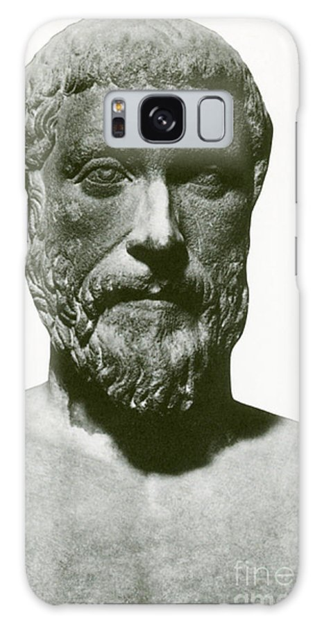 Science Galaxy S8 Case featuring the photograph Pythagoras, Greek Mathematician by Science Source