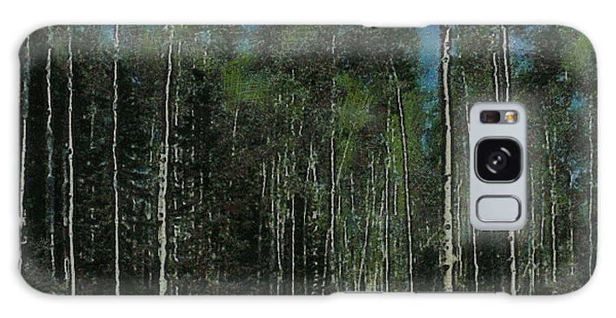 Aspens Galaxy S8 Case featuring the digital art Quaking Aspens by Ernie Echols