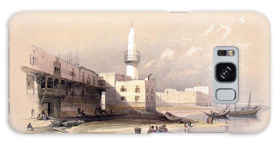Suez Galaxy S8 Case featuring the photograph Quay At Suez Febrary 11th 1839 by Munir Alawi
