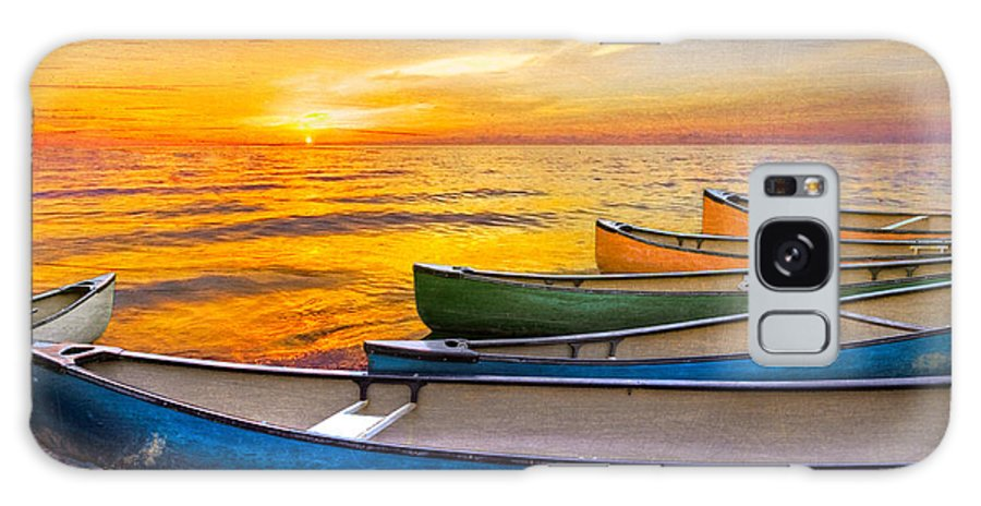 Boats Galaxy S8 Case featuring the photograph Rainbow Armada by Debra and Dave Vanderlaan