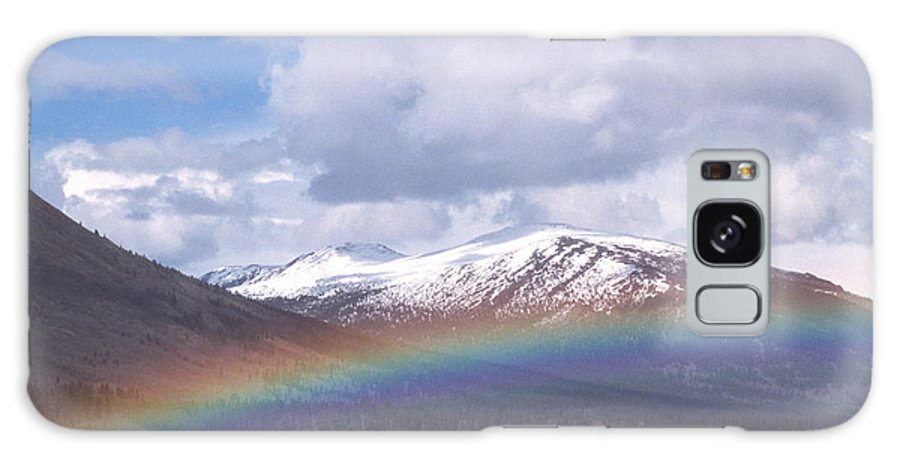 Rainbow Galaxy S8 Case featuring the photograph Rainbow Over A Lake by Alan Sirulnikoff