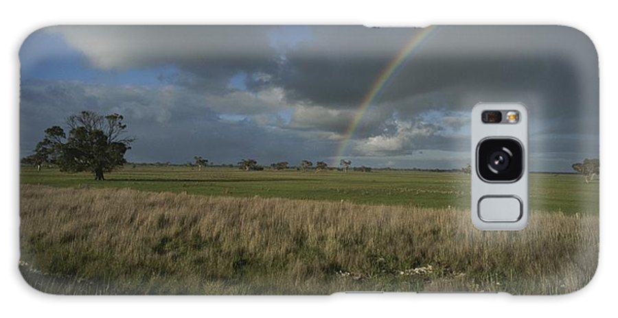 Scenes And Views Galaxy S8 Case featuring the photograph Rainbow Over Fields At Kangaroo Island by Sam Abell