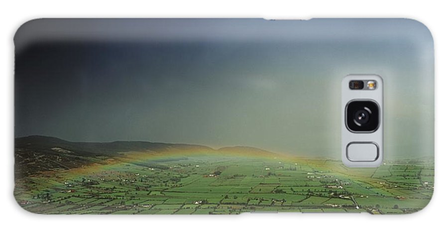 Agricultural Galaxy S8 Case featuring the photograph Rainbow Over Fields In Slieve Gullion by The Irish Image Collection