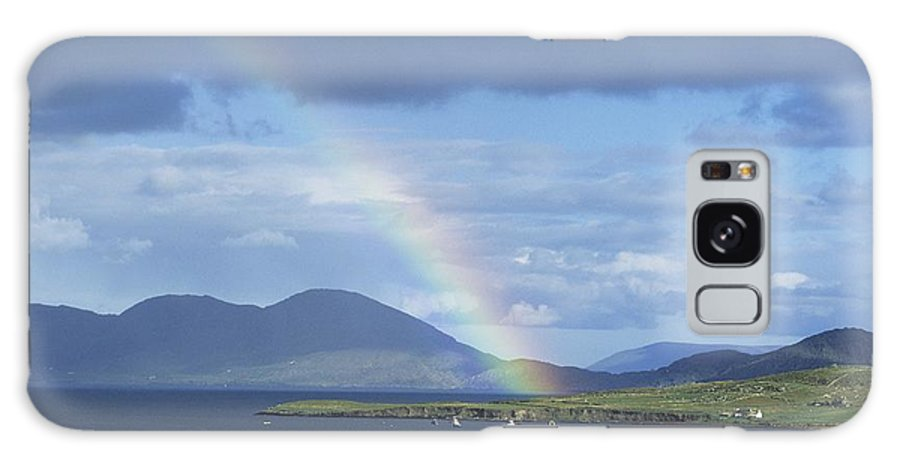 Ballinskelligs Galaxy S8 Case featuring the photograph Rainbow Over Mountains, Ballinskelligs by The Irish Image Collection