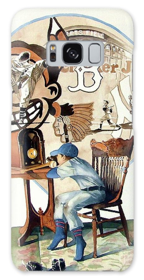 Baseball Galaxy S8 Case featuring the painting Raised On The Radio 3 by Greg and Linda Halom