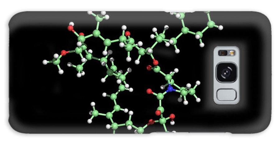 Rapamycin Galaxy S8 Case featuring the photograph Rapamycin Immunosuppressant Drug Molecule by Dr Tim Evans