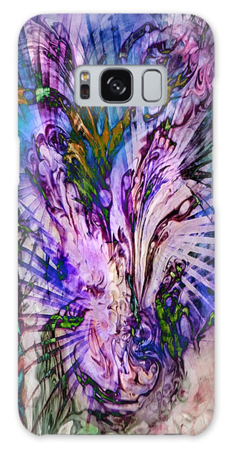 Abstract Galaxy S8 Case featuring the digital art Rapture by Francesa Miller