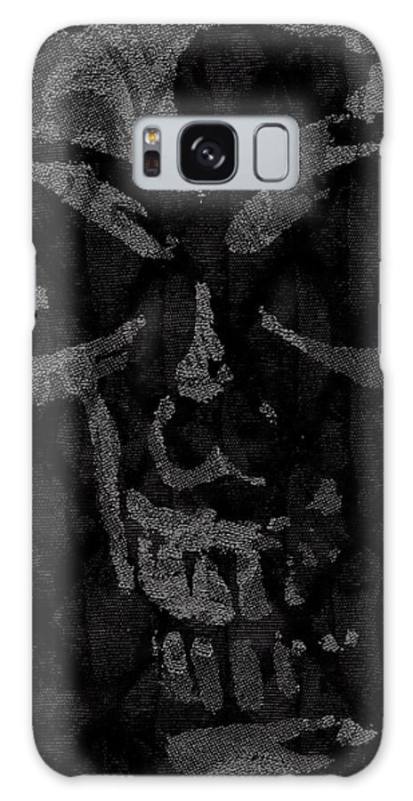 Skull Galaxy S8 Case featuring the photograph Raven Skull by Roseanne Jones
