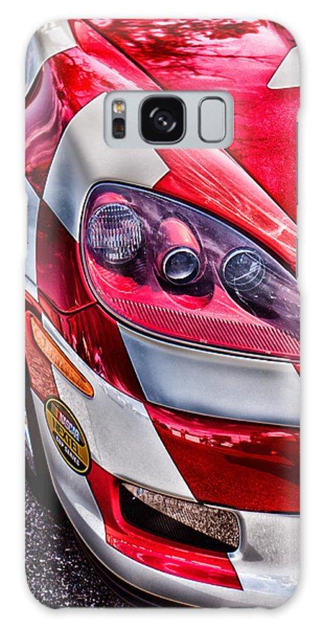 Corvette Galaxy S8 Case featuring the photograph Red Corvette by Lauri Novak